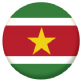 Surinam Country Flag 25mm Keyring